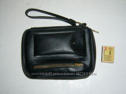 Отличная черная мужская сумочка-барсетка