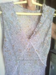 Легкое шифоновое открытое платье 48-50 размера