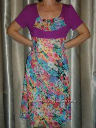 Отличное новое платье 48-52 размера вискоза трикотажшифон Скидка 50