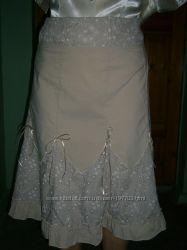 Легкая юбка 52-54 размера из натуральной ткани