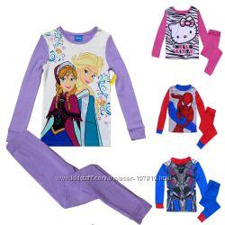 Детские пижамы DISNEY девочкам и мальчикам 2Т-10Т