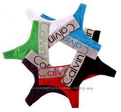 Набор 5 шт. Женское белье, стринги Calvin Klein. Выбор.