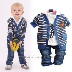 Модные, нарядные костюмчики тройки для мальчиков и девочек в наличии