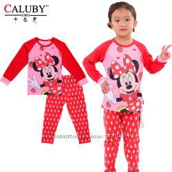 Детские пижамы CALUBY девочкам и мальчикам  2Т-7Т