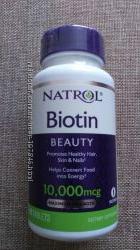 биотин максимальная сила Natrol Biotin США 10, 000 мкг 100шт