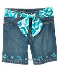 Новые шорты с шикарной вышивкой от Gymboree на 3-4 года