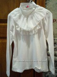 Блузка для девочки молочного цвета