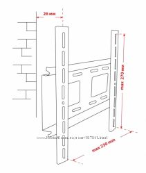 Крепёж настенный для LCD 15-32 КВАДО К-30