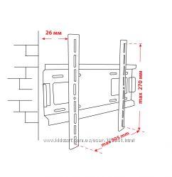 Крепёж настенный для LCD 15-32 КВАДО К-31