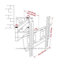 Крепёж настенный для LCD 15-32 КВАДО К-32