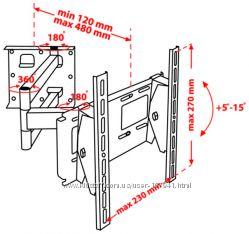 Крепёж настенный для LCD 15-32 КВАДО К-33