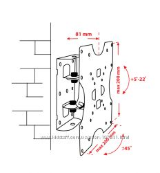 Крепёж настенный для LCD 15-32 КВАДО К-40