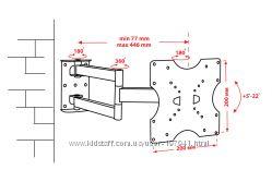 Крепёж настенный для LCD 15-32 КВАДО К-42