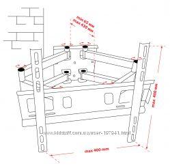 Крепёж настенный для LCD 30-53 КВАДО К-52