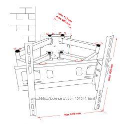 Крепёж настенный для LCD 30-53 КВАДО К-53
