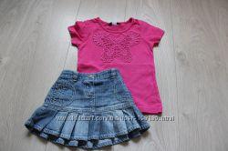 Яркие футболочки для девочки, 2-3 года