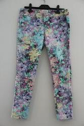 Цветочные джинсы скинни  Aeropostale, р. M