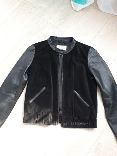 Кожаная куртка Mango, р. S