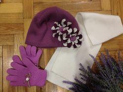 Красивенная  шапка Braxton с объёмным цветком из трикотажа