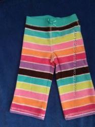 Яркие штанишки для малышки 12-24 мес