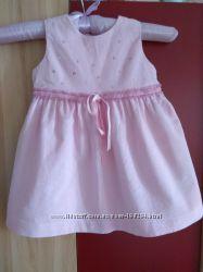 Мега нежное платье-сарафан 9-12 мес хлопок, новое