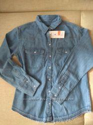 Рубашка джинс М-Л, 46-50 размер