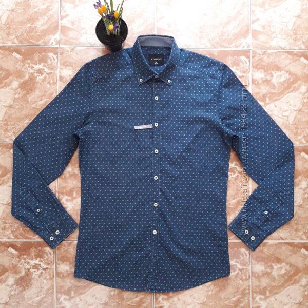 Джинсовая рубашка с рисунком, S и L.