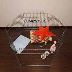 Ясли манеж клетка для собак 120х61х63h с дверкой 6секций