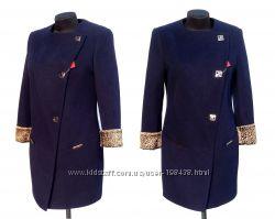 Суперцена. Брендовое пальто, шикарная моделька. Леопард. Новое, р.  L
