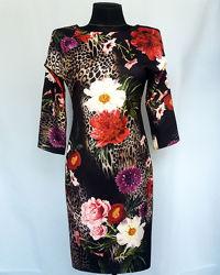 Суперцена. Шикарное платье, цветочный принт. Новое, р. 42-44