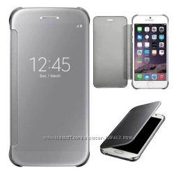 Зеркальный флип чехол для iPhone 6 iPhone  6plus отличного качества
