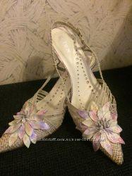 Туфли - босоножки кожа