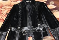 Куртка 46-48 размер, кожзам, мех