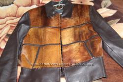 Куртка кожа, мех размер 44-46