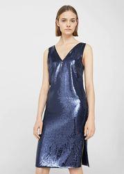 Женское нарядное платье миди в пайетках Mango S