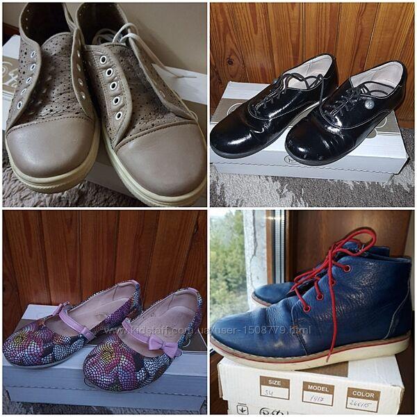 Кожаные ботинки туфли для девочки Palaris