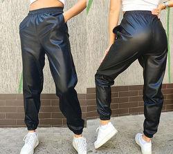 Женские  штаны экокожа на резинке Маркус