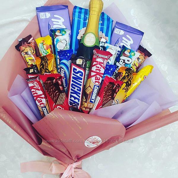 Букетики с конфетами