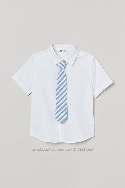 Рубашка с галстуком H&M 7-8 и 8-9 лет