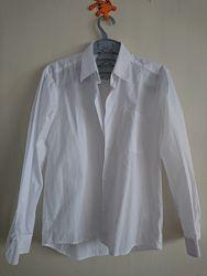 Рубашка белая школьная для мальчика, рост 146-152
