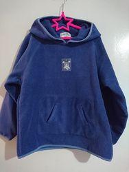 Флиска с капюшоном на мальчика, рост 134-140