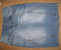 Джинсовая юбка р36