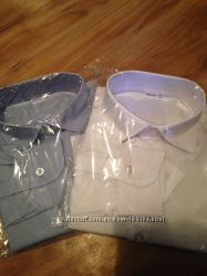 Белые, голубая  рубашки в школу Frantolino,  ТМ Bebepa