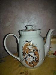 Чайник заварник и сливочник