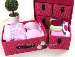 Органайзер для белья и одежды Комодик 3 и 2 ящика