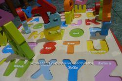 Деревянная рамка вкладыш пазл с английским алфавитом игра подарок