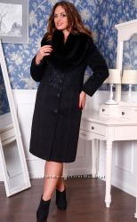 Классическое зимнее пальто 50 р. шерсть
