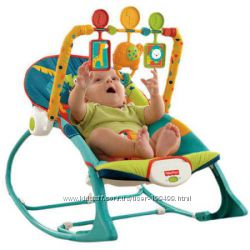 Кресло качалка Fisher Price до 18 кг. шезлонг