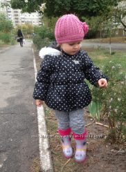 Демисезонная куртка на девочку, в горох
