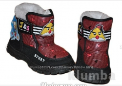 Зимние ботинки Angry birds